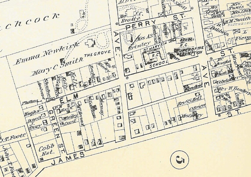 Map of Dublin area of Morristown, 1910