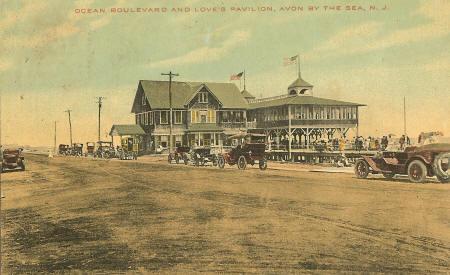 Avon by the Sea postcard, circa 1910